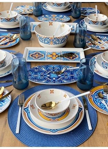 ROSSEV Yemek Takımı Toscana 88 Parça 6 Kişilik Renkli